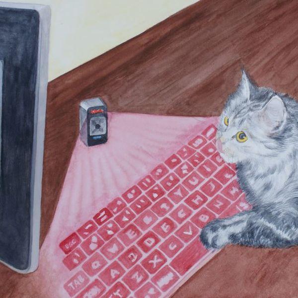 Thomas the computer cat