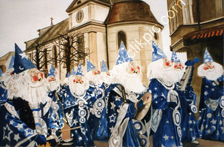 Winter carnival in Switzerland