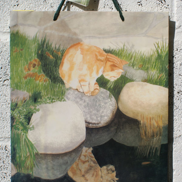 Commission: cat gift bag and tag
