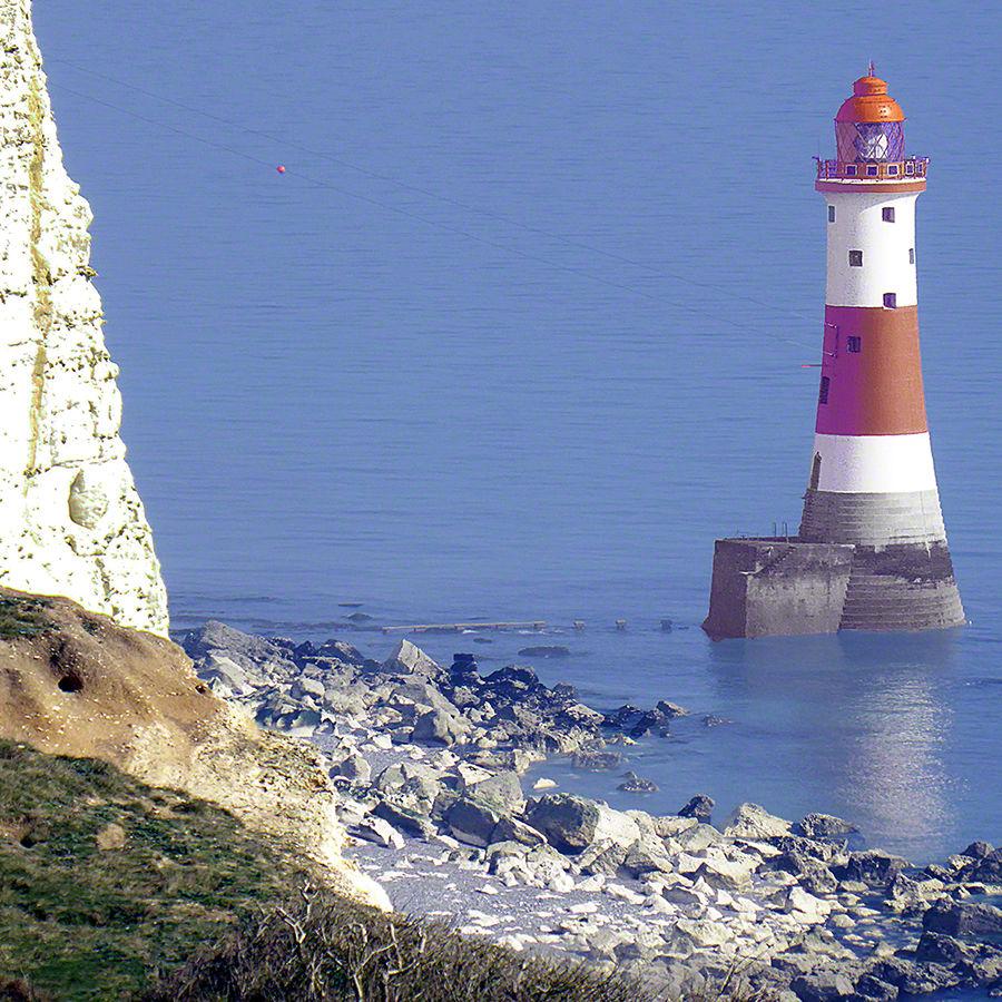 Beachy Head Lighthouse from near beach level