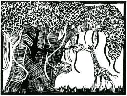 Giraffe and Mugumo Tree