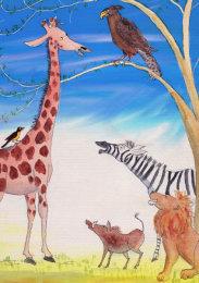 Giraffe after his adventure