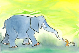 From 'How elephant learned manners'