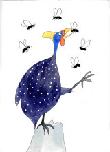 From 'Guinea Fowl and the Greedy Flies'