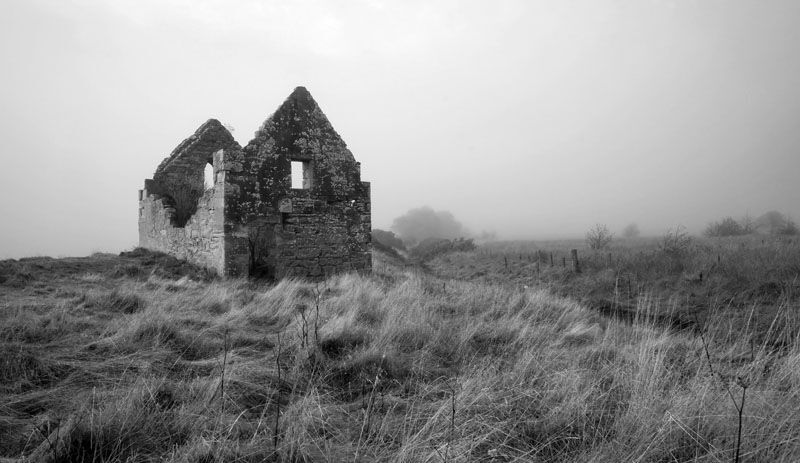 Salmon Bothy in the Mist