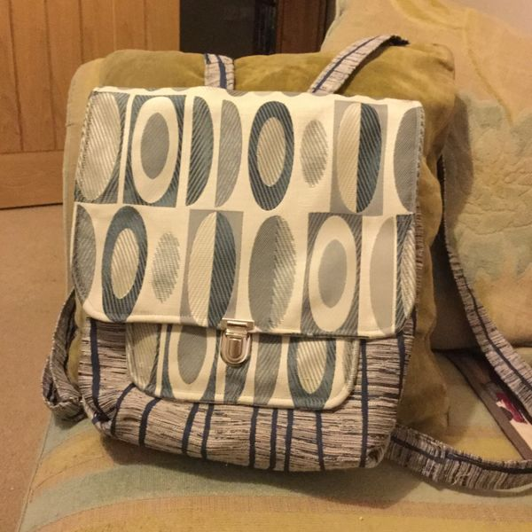 Grey backpack front