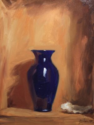 Blue Vase and Oyster Shell