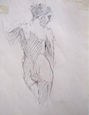 Nude on wall