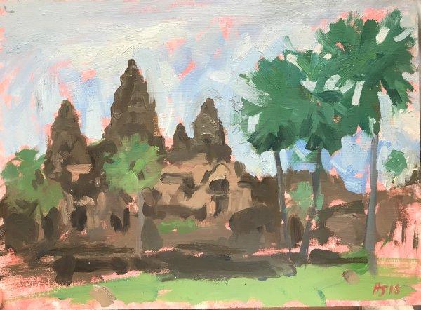 Rainy season, Angkor Wat