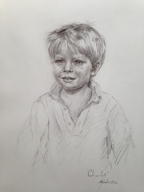 Portrait of my godson, Carlitos