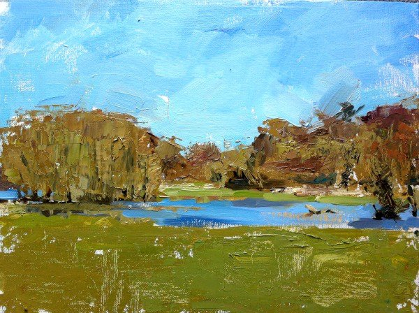Water-meadows at Higham, Suffolk
