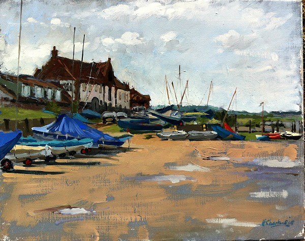 Sailing boats at Burnham Overy