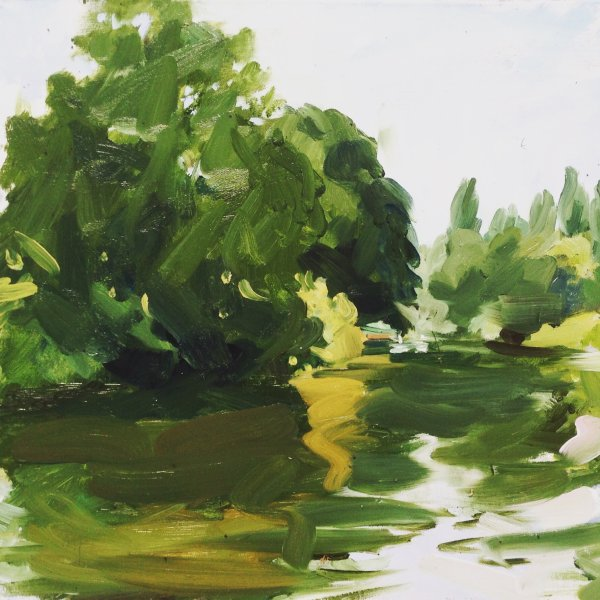 Summer on the Stour, towards Dedham Bridge