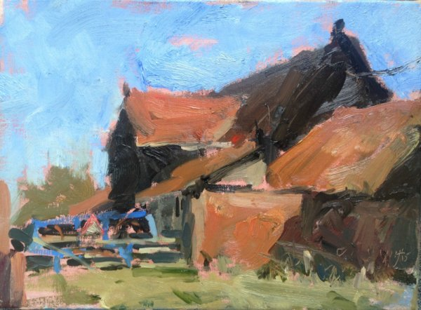 Barn and plough, March