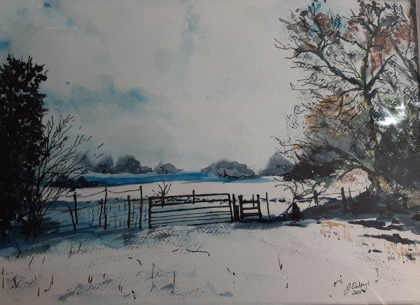 Jean Ealey.  Gate.  Watercolour