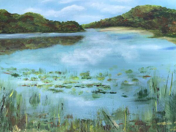 Barbara Ann Reynolds. Calm Waters. Acrylic. Framed. £180