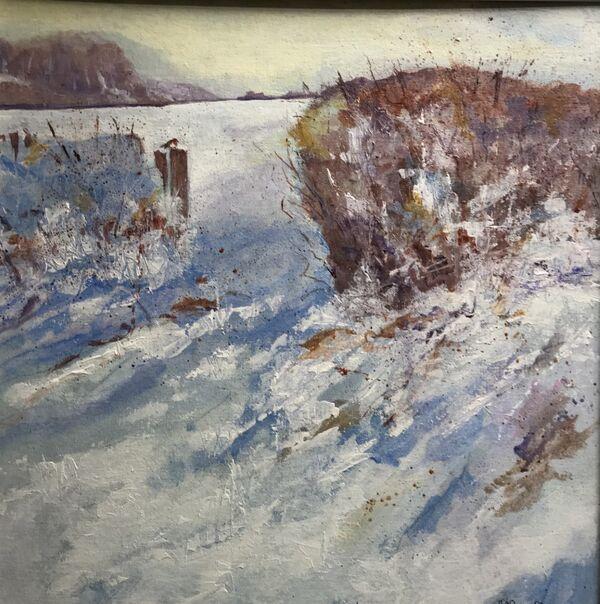 Barbara Ann Reynolds. Drifting Snow. Acrylic.  £180