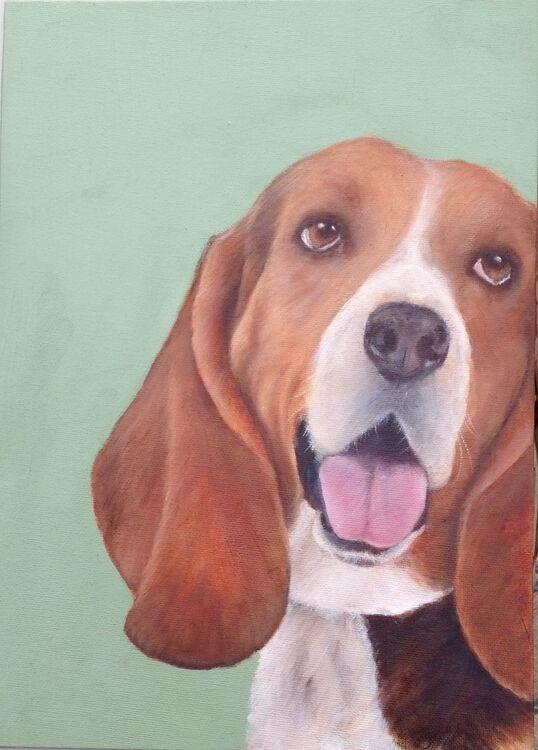 Jeni Taylor.   ''Henry''  Oil on canvas board. Unframed.  £60