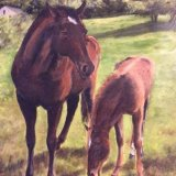 Mother and Foal.     Pamela Prior
