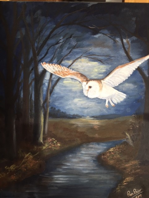 Pamela Prior. Night Hunter. Oil