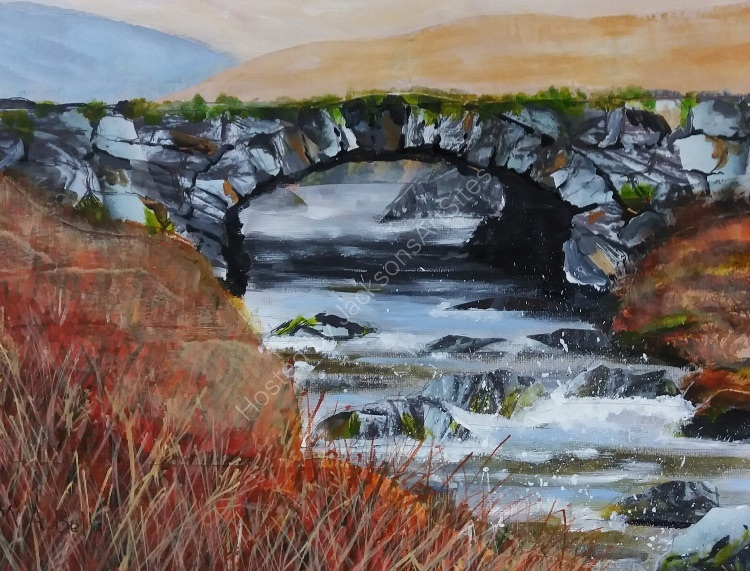 Bridge, Ffestiniog Moors.   Maureen Bell