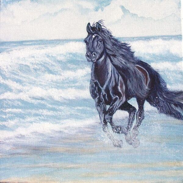 Jean Walker.   Free Spirit  Acrylic on 12'x12; canvas.  £40