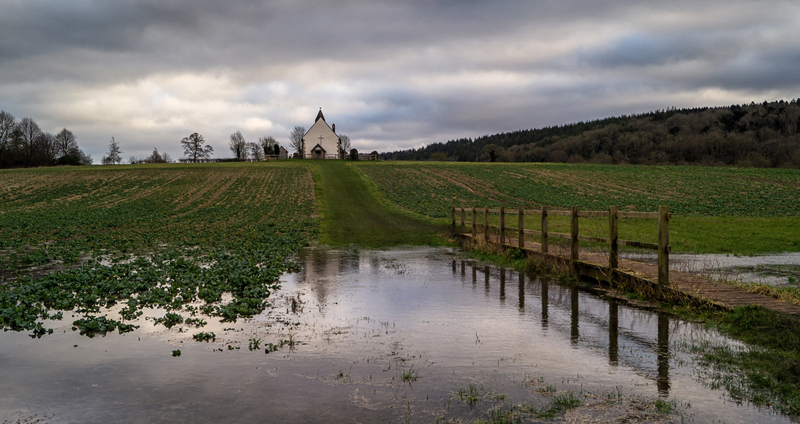 A break in the rain at St Hubert's Church