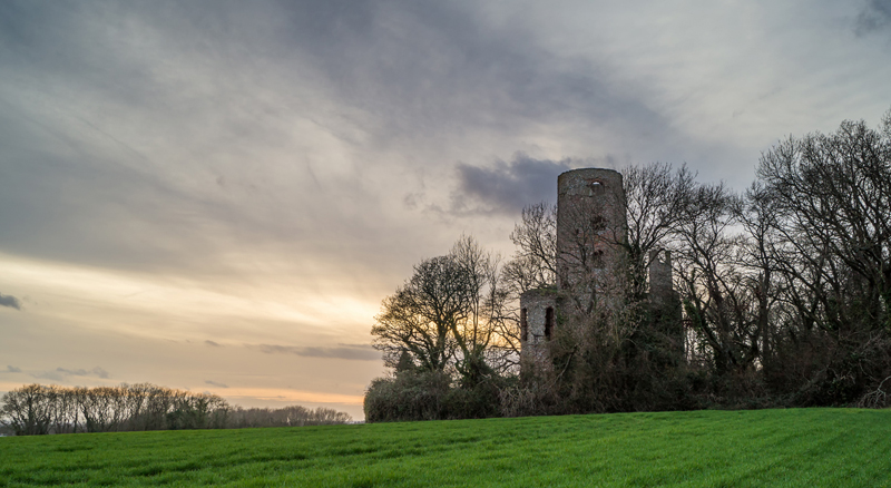 Winter Evening at Racton Tower