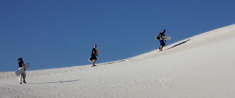 Sandboarder's Climb