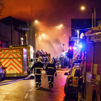 Fire at Drummonds Mill Bradford(2) 28.1.16