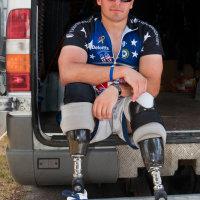 Cpl Luke McDermott USMC, during the Big battlefield Bike Ride 2011