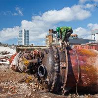 Demolition of Tetley's brewery, Leeds