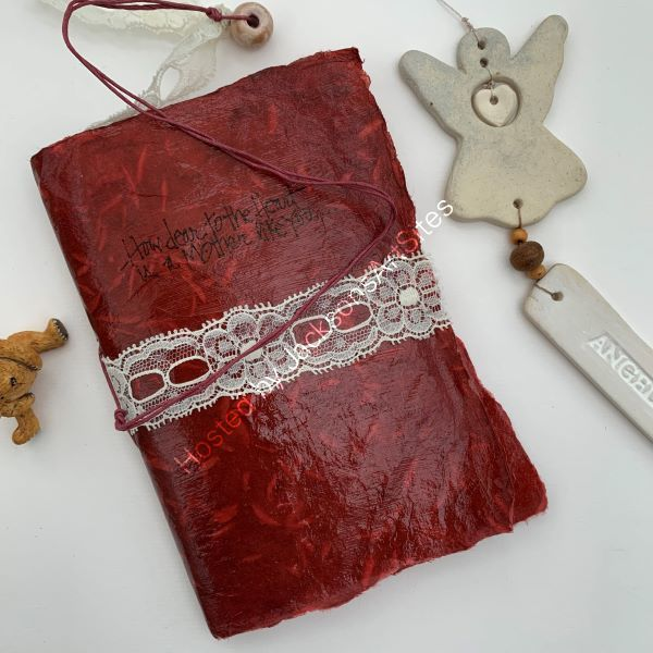 'How Dear To The Heart' Burgundy Notebook