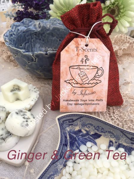 Handmade Soya Wax Melts - Fresh Ginger & Green Tea
