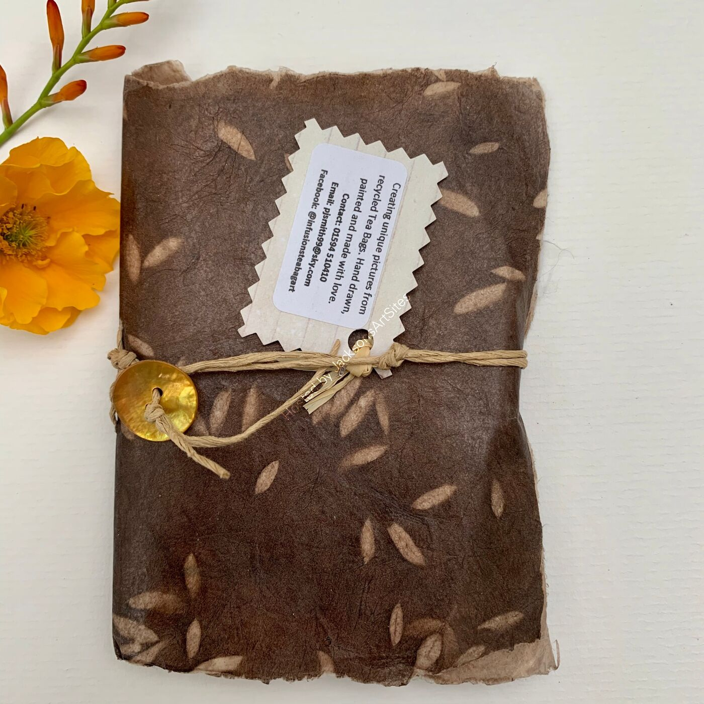 Handmade Notebook - Recycle Papers - Rice Design