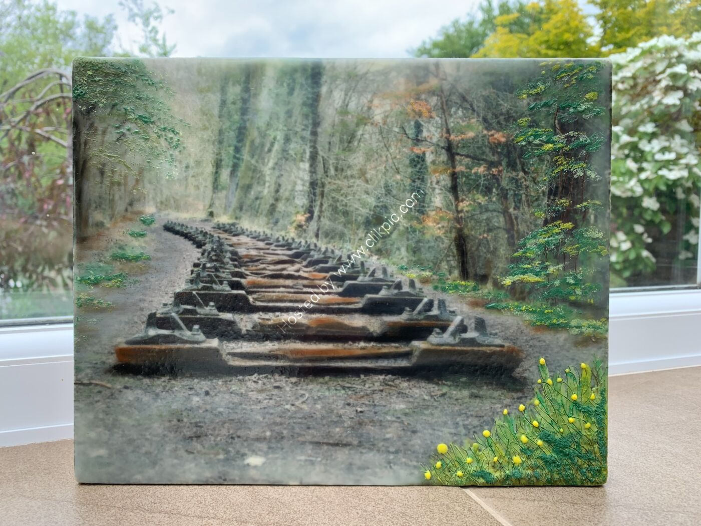 The Iron Road - Encaustic Wax Painting