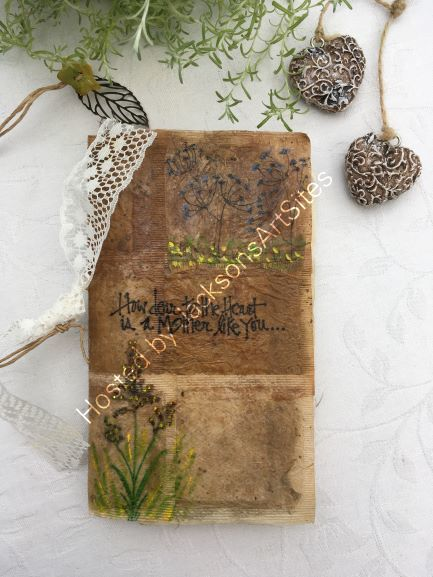 Recycled Handmade Notebook From Tea Bags