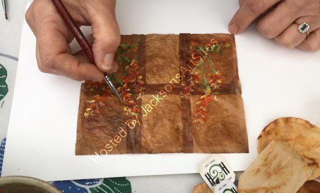 Painting A Tea Bag Notebook