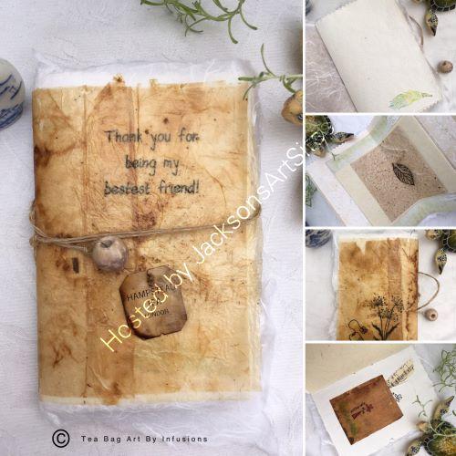 Herbal Handmade Tea Bag Notebook