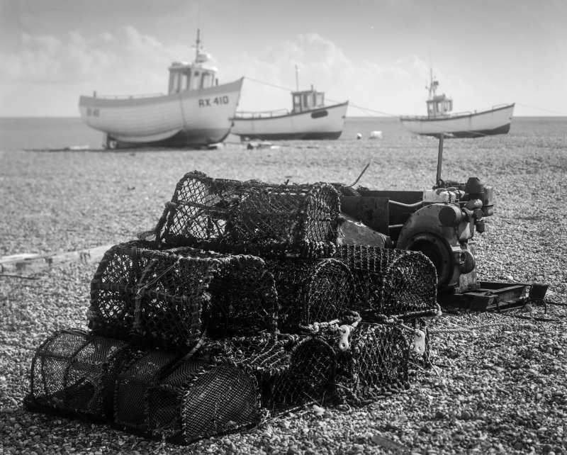 Crab pots on Dungeness beach