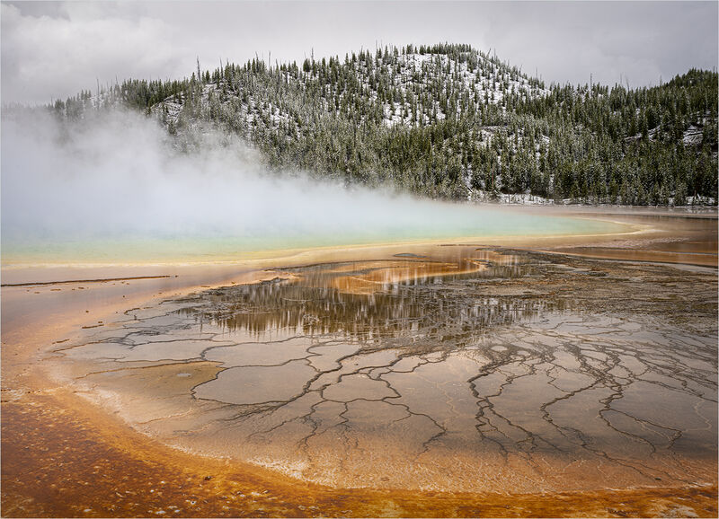 REFLECTIONS AT THE GRAND PRISMATIC SPRING