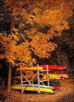 Autumn colours, Rockport, Maine