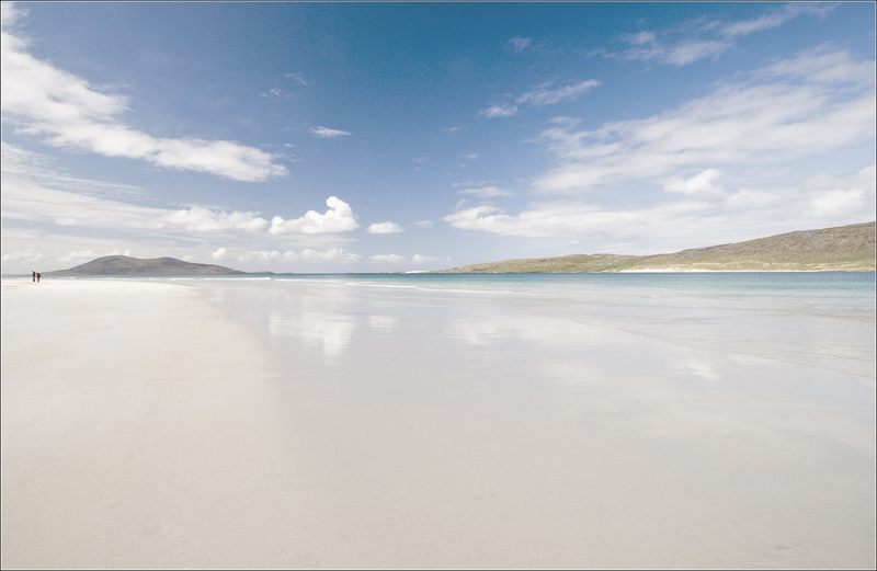 WALKERS ON LUSKENTYRE BEACH