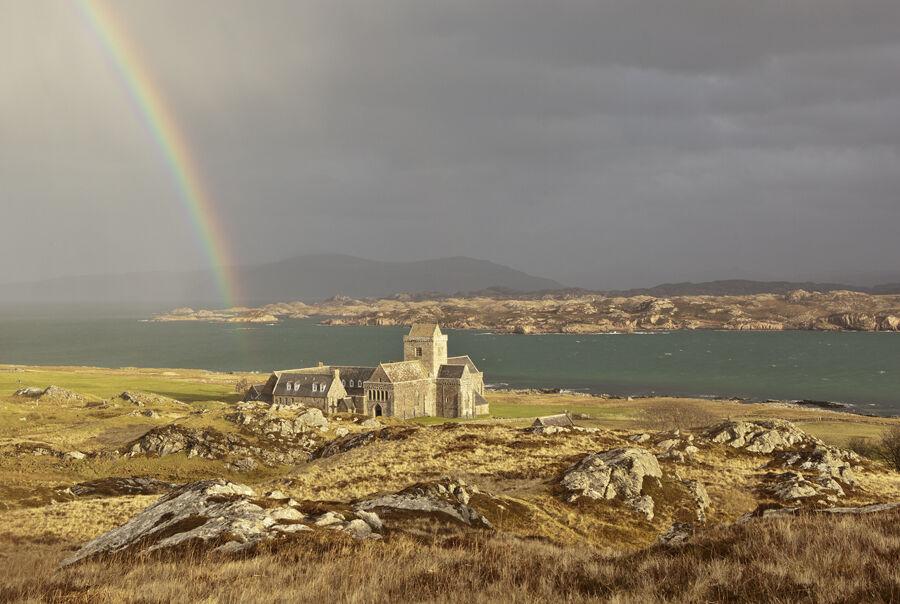 Rainbow Over the Sound of Iona