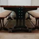Oak table and benches £1,500