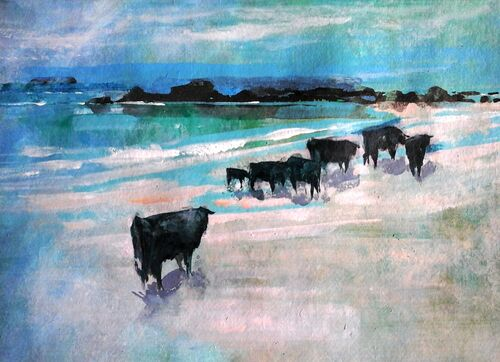 Cattle at A Cleit