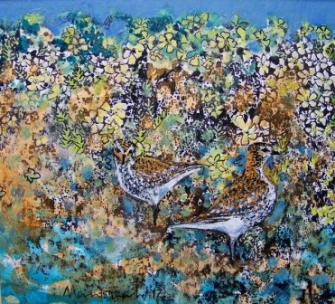 Golden Plovers in Machair - Print
