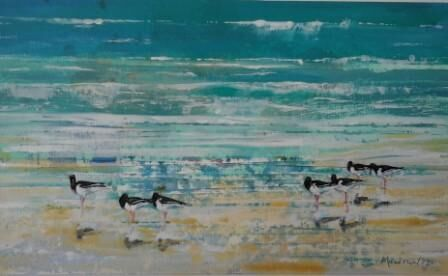 Oystercatchers at High Tide