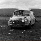 AUTOCROSS - Pitbee Farm (November, 1969) Car 41, Dick Taylor  (Mini Cooper) gone.....