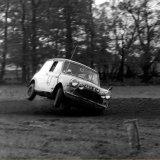 AUTOCROSS - Pitbee Farm (November, 1969) Dick Taylor (Car 41) Mini Cooper, going.....going.....
